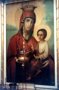 Икона Божией Матери именуемая Скоропослушница (фото, Афонское подворье в Москве)