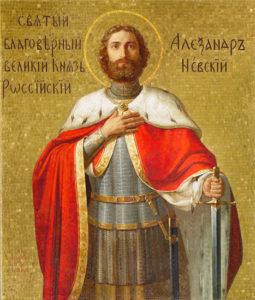 Икона святого благоверного князя Александра Невского. Иконописная мастерская Екатерины Ильинской