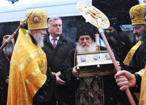 Принесение пояса Пресвятой Богородицы в Россию
