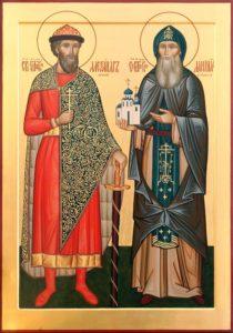 Святые благоверные князья отец и сын - Александр Невский и Даниил Московский